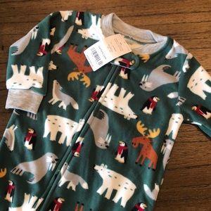 Carter's one piece fleece footed Holiday pajamas